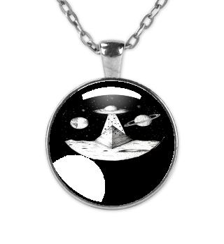 UFO Galaxy Pyramid Space Art