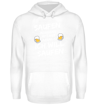 Saufen morgens mittags abends Party