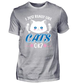 I just really like cats gift