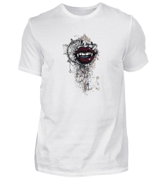 scary beautiful Vampire Mouth Art Design
