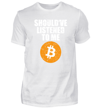 BTC Bitcoin Gift crypto currency Shirt