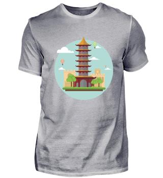 Der asiatische Turm.