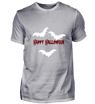 BAT HAPPY HALLOWEEN (white)