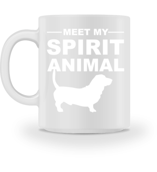 Meet Spirit Animal - basset hound white