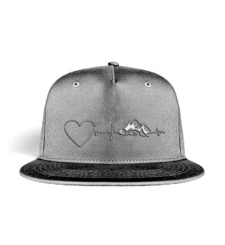 Berge Heartbeat Herz Cap
