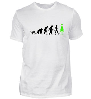 Evolution Of Humans - Green Alien I