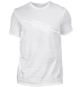 American Football line - white