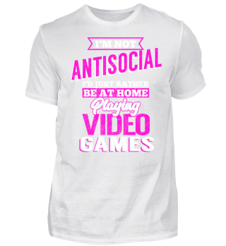 Gamer Girl im not Antisocial