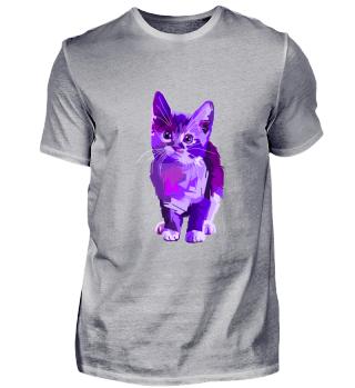 Purple Pop Art Cat