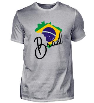 Brasilien Brasil Landkarte Geschenkidee