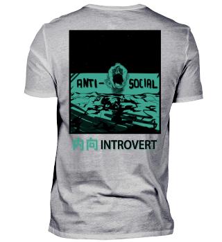 ANTI SOCIAL INTROVERTIERT BACKPRINT