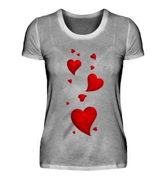 Fliegende Herzen Valentinstag