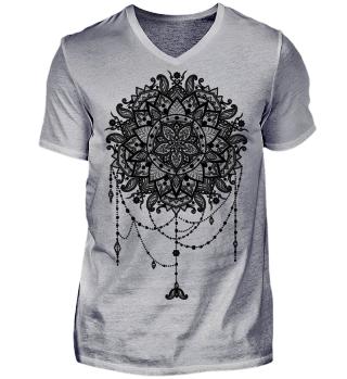 Dotwork Tattoo Mandala 5 - black