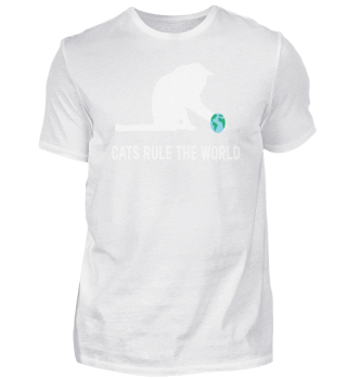 Cats Rule The World Funny Pet Gift Kitty