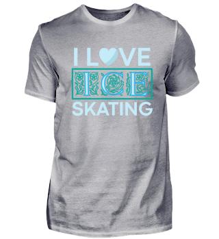 Ich liebe Schlittschuhlaufen