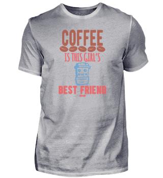 Kaffee ist der beste Freund des Mädchens