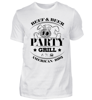 GRILL SHIRT · PARTYGRILL · AMERICAN BBQ #4.1