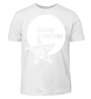 Blessed Christmas - Bamboo Star white