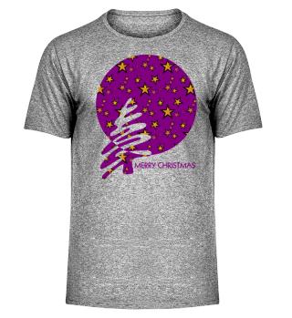 Merry Christmas - stylish stars purple