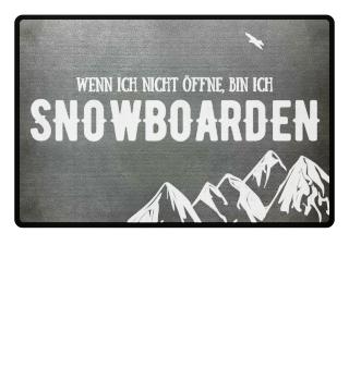 Ich bin beim Snowboarden