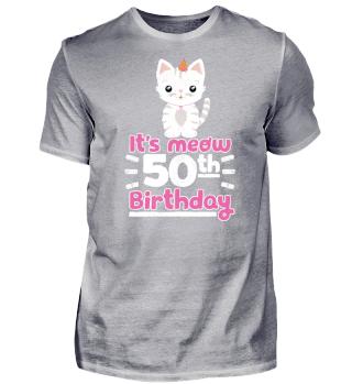 Lustiger Spruch Katze 50. Geburtstag