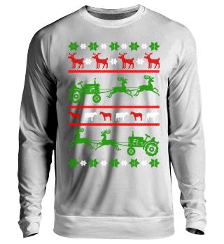 Landwirt Traktor Ugly Christmas