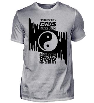 Ein Bisschen Gras Muss Sein - schwarz