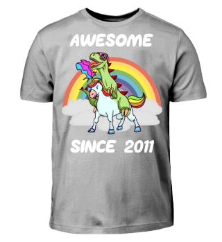 Einhorn Geschenk Shirt 7. Geburtstag