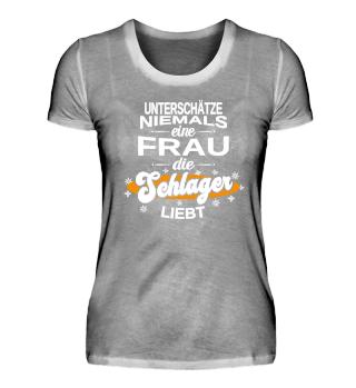 Schlager Schlagerparty Schlagerfan Volksmusik Musik T-Shirt Damen Geburtstag Geschenk