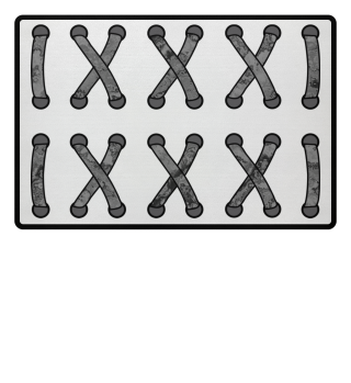 ♥ Double Cross Lacing - gray black II