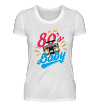 80er Outfit Tshirt Neon Gift Party