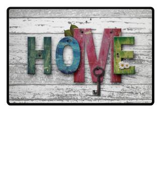 Wooden boards wall - HOME II Fußmatte
