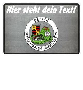Fußmatte: Dein Text + Bezirk