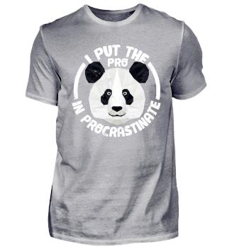 Lustiger Panda Bär Spruch Faulenzen