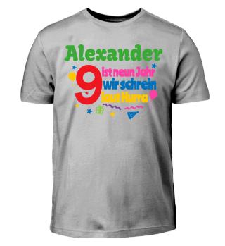 Geburtstags-Shirt zum Bemalen - 9 Jahre