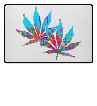 ★ Crazy Colored Marijuana Leaves 4a
