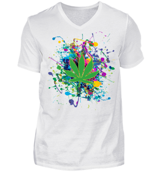 ★ Color Splashes - Marijuana Leaf II
