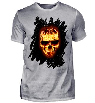 Celtic Gothic Fire Skull