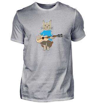 Funny Cat plays Guitar Kittie Gift idea