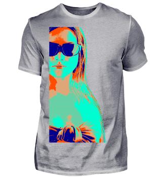 ♥ Hipster Beach Girl - pop art style 1