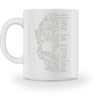 Artsy Vintage Skull - Time Is Coming 1