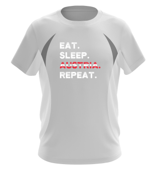 Eat Sleep Austria Repeat Wien Ski Urlaub