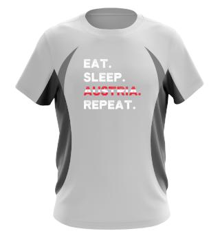 Eat Sleep Austria Repeat Wien Ski Urlaub