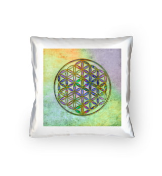 Flower Of Life - Antique Grunge Colors 3