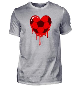 Fußballherz Herzblut Fußball Blut