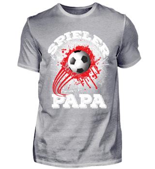 Spieler Papa Fußball - rot