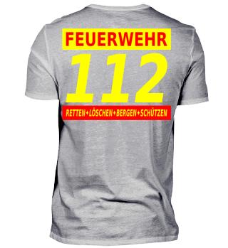 112 Feuerwehr (rot)