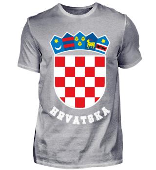 Hrvatska Wappen Kroatien Flagge T-Shirt