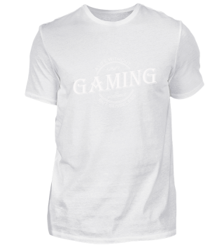 ★★★ A life without GAMING - white