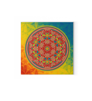 ★ Flower Of Life - Batik Style Colored 3